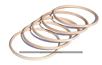 Amazoncom Masters Traditional Games Set Of 5 Wooden Hoops For