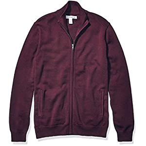 Amazon Essentials Men's Full-Zip Cotton Sweater