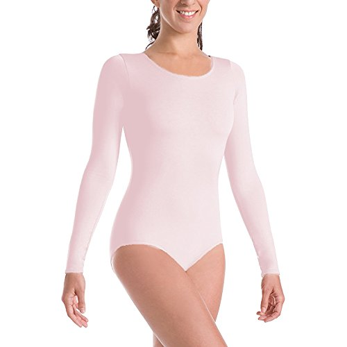 Body Wrappers Long Sleeve Dance Leotard, Theatrical Pink, Preteen