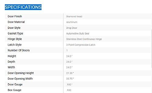 1735103 Buyers Products Diamond Tread Aluminum Underbody Truck Box w// 3-Point Latch 18x18x30 Inch
