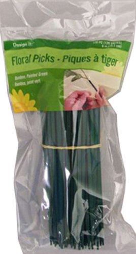 FloraCraft Floral Accessories Floral Picks, 120 6-Inch Green Floral Picks, ()