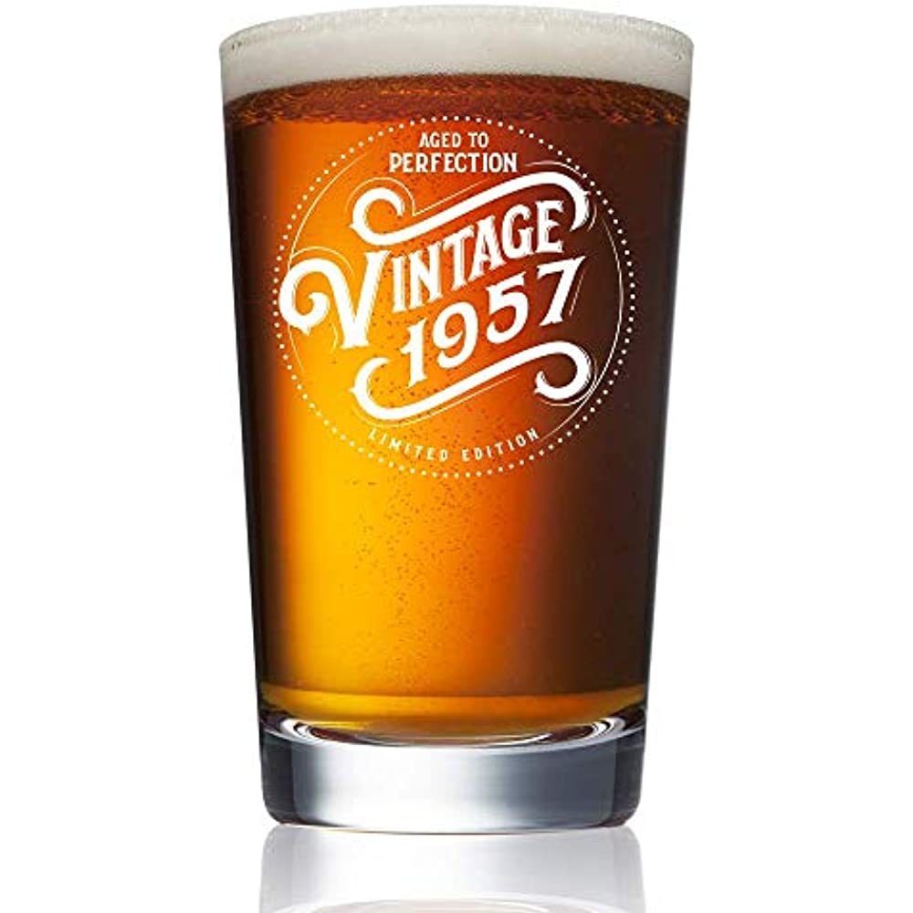 1957 Beer Glasses 62nd Birthday Gifts For Men And Women