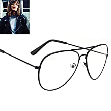 Scorpiuse Aviator Glasses Clear Lens Retro Metal Frame Eyeglasses