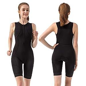 COPOZZ Triathlon Suits Trisuit Women, Premium Anti-Friction Padded Running Swimming Cycling Sleeveless Soft Skin Suit…