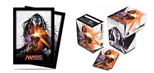 BUNDLE: Magic: the Gathering - MTG Magic Origins Planeswalker Liliana Vess (Deck Box & 80 Sleeves)