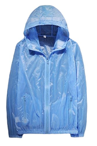 Pure Jacket Guards Sky Beachwear Full Breathable Howme Blue Hooded Rash Men's zip xBfwqzY