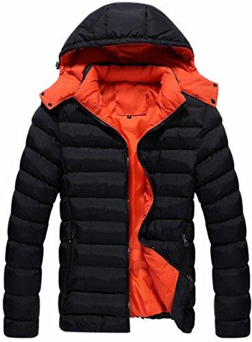 Hooded Puffer Size Winter Warm Mens Hot Zipper UK Black Brd Thick Plus Down Coat nnZqaSv