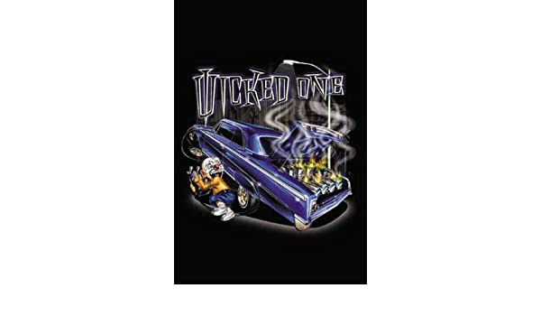 """/""""Wicked One/"""" Lowrider Street Racing Car Nitrous Oxide on Fire Urban Art Poster"""
