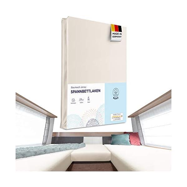 41tGqKdX6TL Beeke® Premium Spannbettlaken Wohnmobil [3 teilig] - Multi-Stretch Bettlaken für Wohnwagen-Heckbett [Made in Germany…