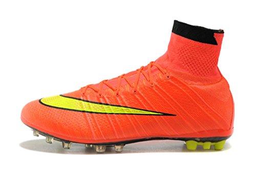 Herren oranger Mercurial Superfly X AG Hi Top Fußball Schuhe Fußball Stiefel