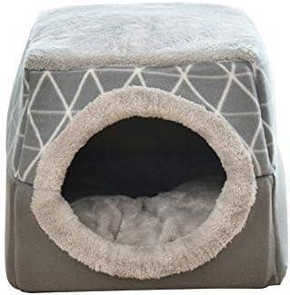 Cama Redonda Plegable Cerrada Asdomo Cama Relajante para Perros y Gatos c/álida y Suave de Felpa c/ómoda para Dormir en Invierno Color Negro