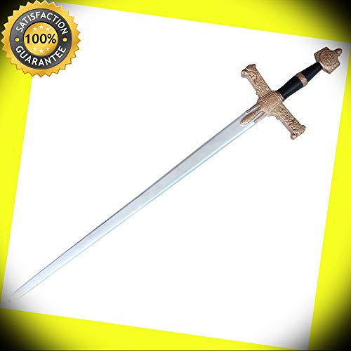 (Medieval Mighty Sword of Solomon Foam Costume Stage Renaissance Prop Replica perfect for cosplay outdoor camping)