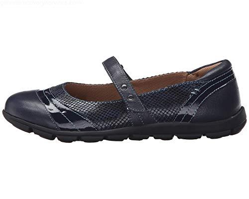 Comfortiva Womens Corwin Cap Toe Mary Jane Flats, Blue, Size 6.0