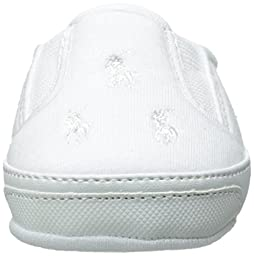 Ralph Lauren Layette Bal Harbour Repeat Slip On (Infant/Toddler), White Jersey, 1 M US Infant