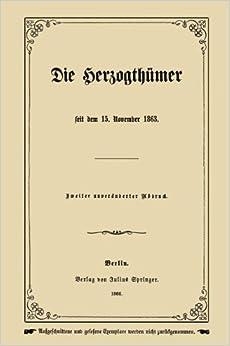 Book Die Herzogthümer (German Edition)