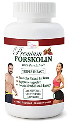 Max Strength Appetite Suppressor -20% Pure Forskolin 60 Veggie capsules - Natural Weight Loss Diet Pill – Supports Weight Control - Carb & Fat Blocker - Fat Burn - Metabolism Boost - 100% Safe