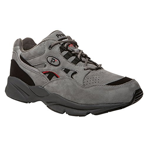 スペシャリストシンプルさ気難しいProp?t(プロペット) メンズ 男性用 シューズ 靴 スニーカー 運動靴 Stability Walker Medicare/HCPCS Code = A5500 Diabetic Shoe - Grey/Black Nubuck [並行輸入品]