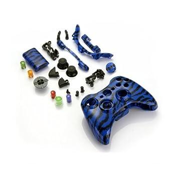 Dcolor Funda Carcasa Reemplazo para Mando Inalambrico Xbox 360 Color Azul