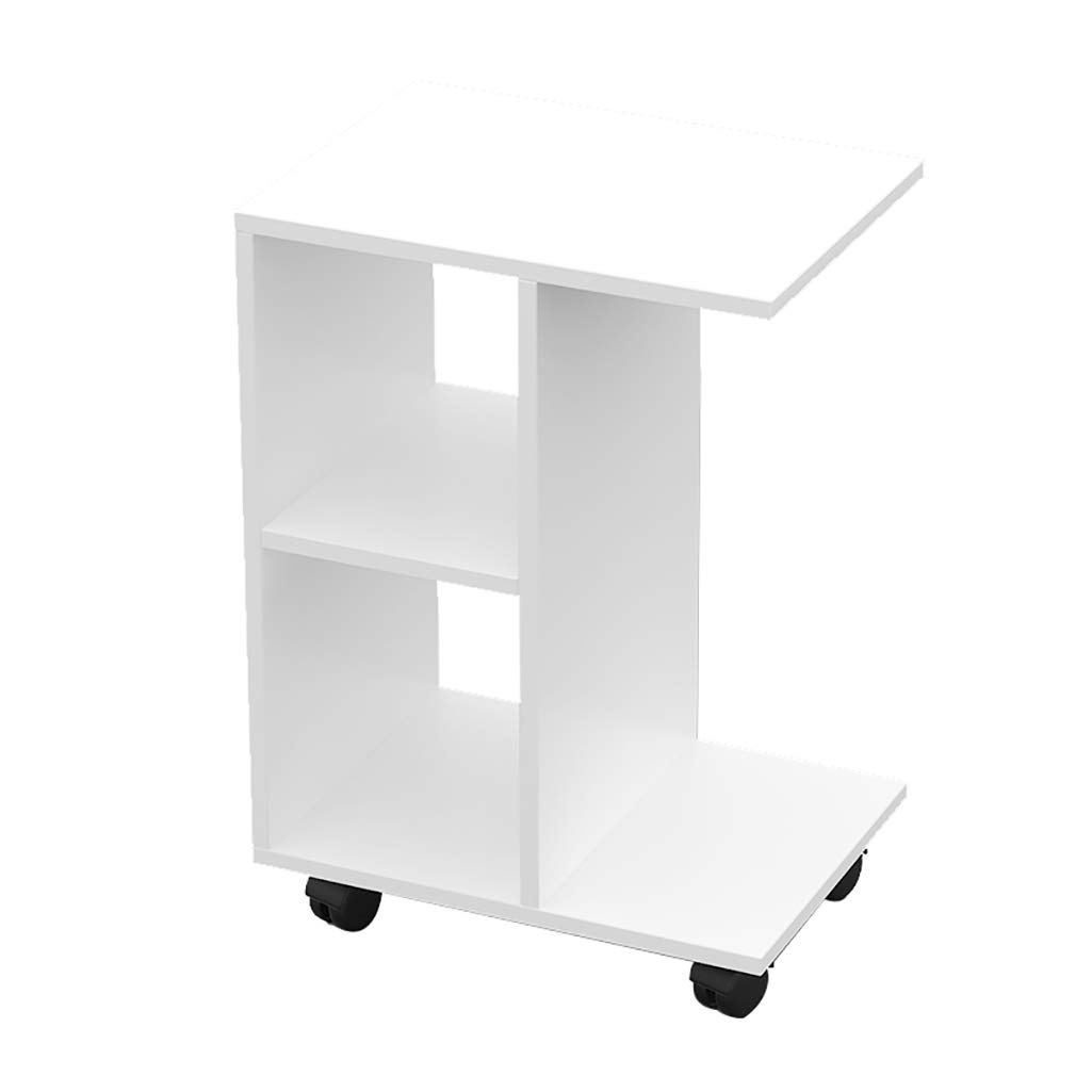 Storage Coffee Table, Simple Modern Foyer Bedside Multi-Purpose Sofa Side Table Cabinet Small Side Table White
