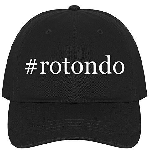 The Town Butler #Rotondo - A Nice Comfortable Adjustable Hashtag Dad Hat Cap, Black