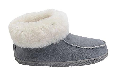 De Pantoufles Chaud Avec Double Mouton Peau Laine Femmes Manchette Vogar Luxe Chaussures W66 Chaussons pwtqXW