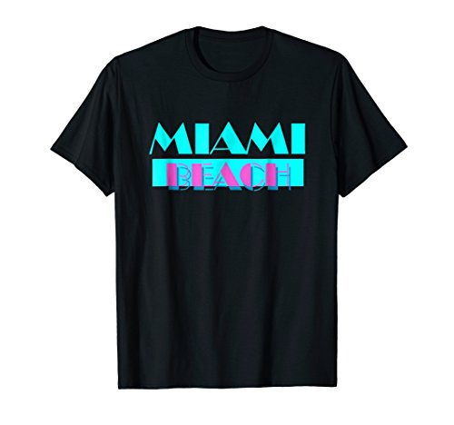 Miami Beach Vice Style 80s Logo T-shirt, men, women, kids