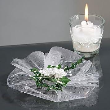 Amazon De Tischdeko Efeu Und Rosen D 16 Cm Fur Hochzeit