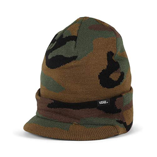 (Vans Off The Wall Visor Cuff Beanie Hat - Camo Camouflage Winter hat Snowboard)