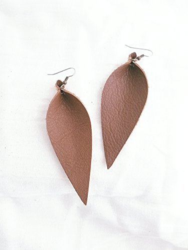 Brown / Leather Statement Earrings - Large / Joanna Gaines Earrings