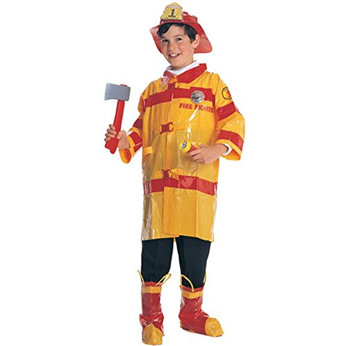 Child's Cheap Fireman Costume (Size:Medium 8-10)