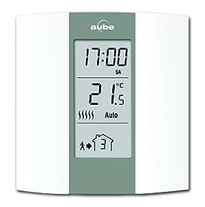 aube th136 termostato programable color crema y gris