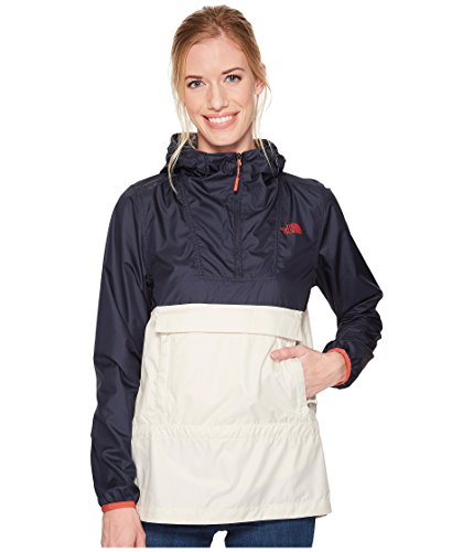 - The North Face Women's Fanorak Rain Jacket, Vintage White/Urban Navy, Large