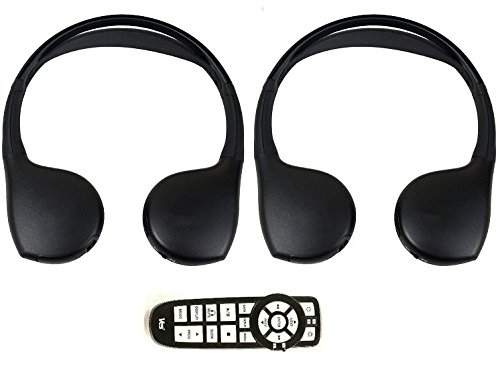 chrysler-town-and-country-dvd-headphones-headsets-set-of-two-and-one-remote-control-2008-2009-2010-2
