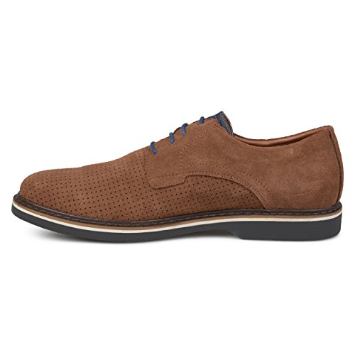 Territory Mens Perforated Lace-up Genuine Suede Dress Shoes Brown WmTohvxFs