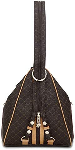 Rioni Signature Brown Zipper Strap Backpack ST20082