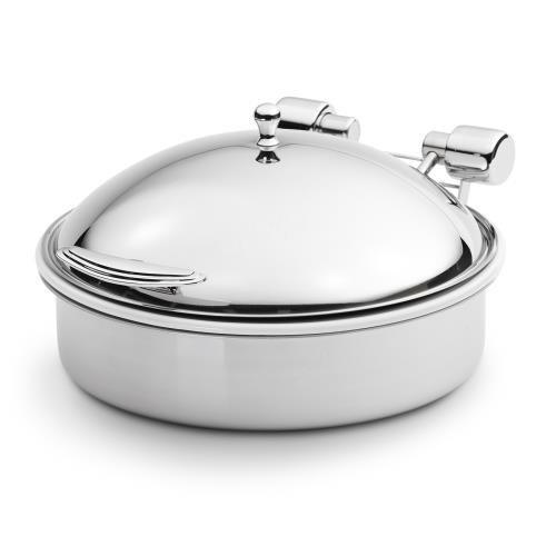 Vollrath 46123 Intrigue Round 6 Quart Induction Chafer with Food Pan