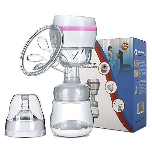 Electric Breast Pump Portable Battery Baby Milk Extractor Rechargeable Single Breastfeeding Pump with 3 Modes Massage & Suction Level and Backflow Protector for Travel (Pink) (Best Portable Electric Breast Pump)