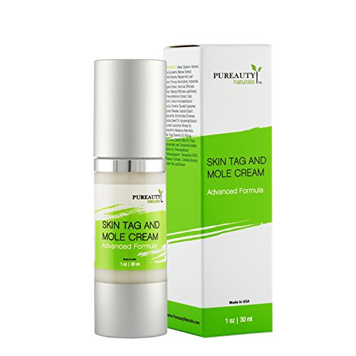 Skin Tag And Mole Cream By Pureauty Naturals: Advanced Formula With Natural Ingredients, Nourishing Moisturizer For A Healthy Complexion, Specialized Formula For Skin Tag, Warts and Moles by Pureauty Naturals