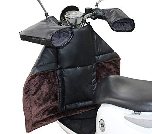 飢えたプランターブロッサム電動自転車バーマフス/手袋 オートバイスクーター 防風 冬に暖かく保つ PUレザーぬいぐるみ