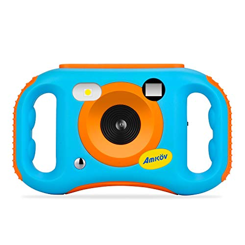 AMKOV WiFi Kids Camera Rechargeable 1080P HD Digital Children Camcorders with 1.77 Inch LCD Screen, 7-Color Filter Effect, Flash and Mic for - Tough Kid Digital Camera