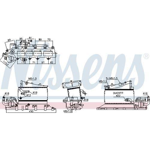 Nissens 961181 Turbo Intercooler: