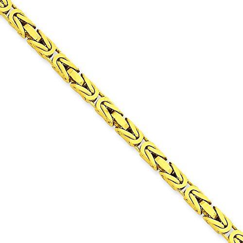 """3,25 mm 14 carats Byzantine Bracelet chaine 7 """"Motif JewelryWeb pince de homard"""