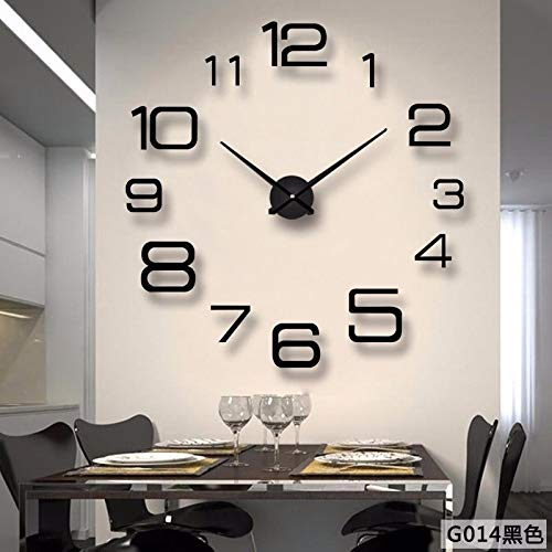 - Imoerjia Trend in Living Room with Large Wall Clock DIY European Personality Creative Fashion Watches Mirror Wall Clock,01