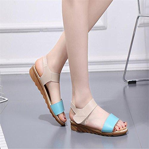 Sandalias de verano femenina Blue