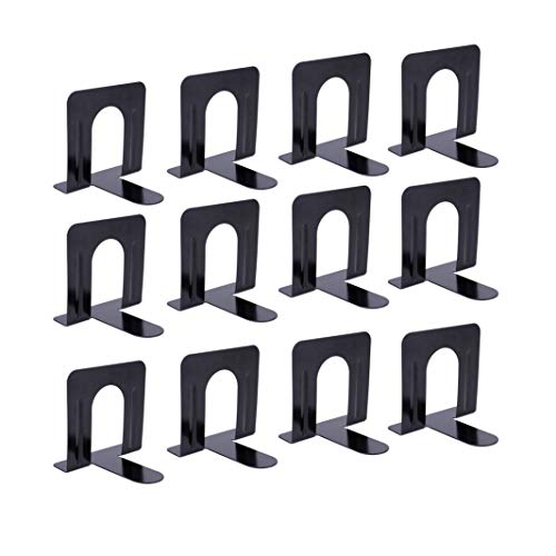 Universal Economy Bookends, Black, 6 Pairs ()