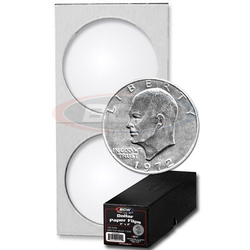 100 Ct. BCW Premium Large Dollar Coin Holders with BCW Storage Box