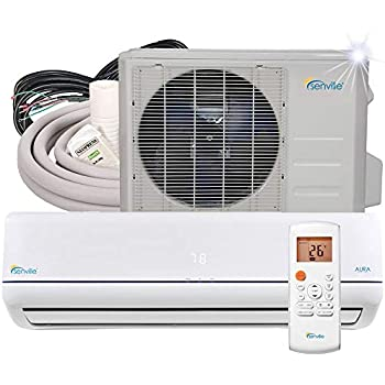 Senville 9000 BTU SENA-09HF/Z Energy Star Mini Split Air Conditioner Heat Pump, White