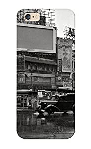 Alrxds-194-tdlhkuo Snap On Case Cover Skin For Iphone 6 Plus(buildings Rain Street Bw Cities Roads )/ Appearance Nice Gift For Christmas