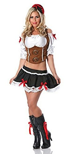 Delicious Fetching Wench Costume, Multicolor,