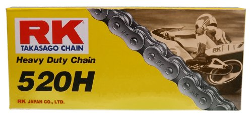 RK Racing Chain M520HD-106 (520 Series) 106-Links Standard Non O-Ring Chain with Connecting Link (Links O-ring)